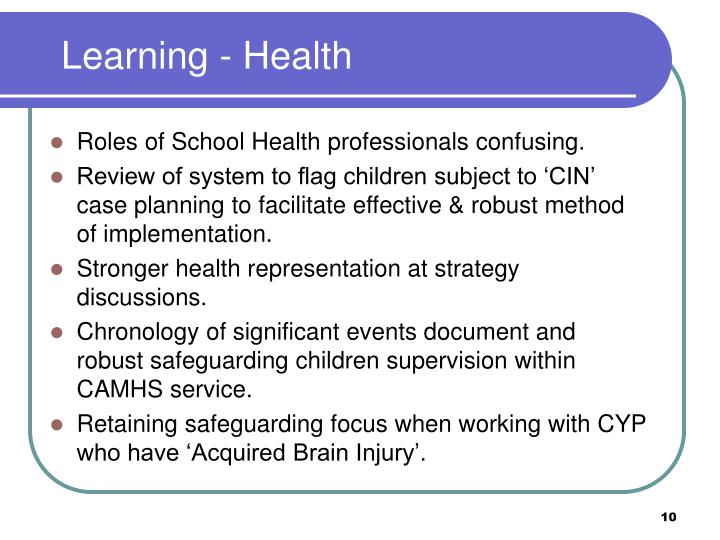 Learning - Health