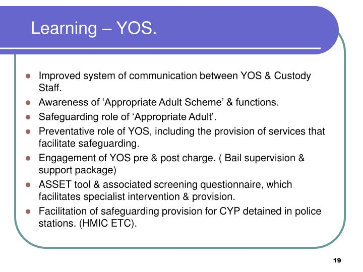 Learning – YOS.