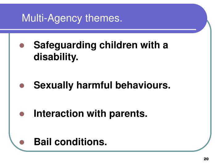 Multi-Agency themes.