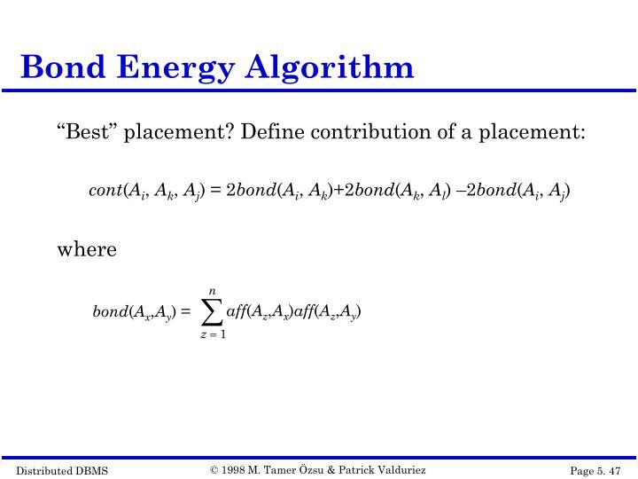 Bond Energy Algorithm
