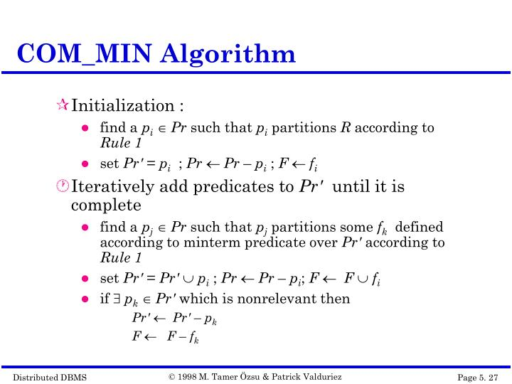 COM_MIN Algorithm