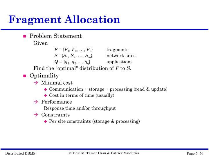 Fragment Allocation