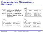 fragmentation alternatives horizontal
