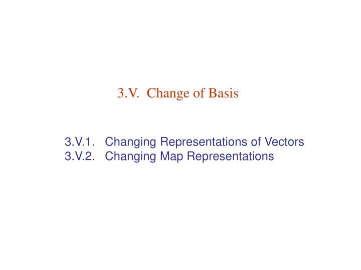 3 v change of basis