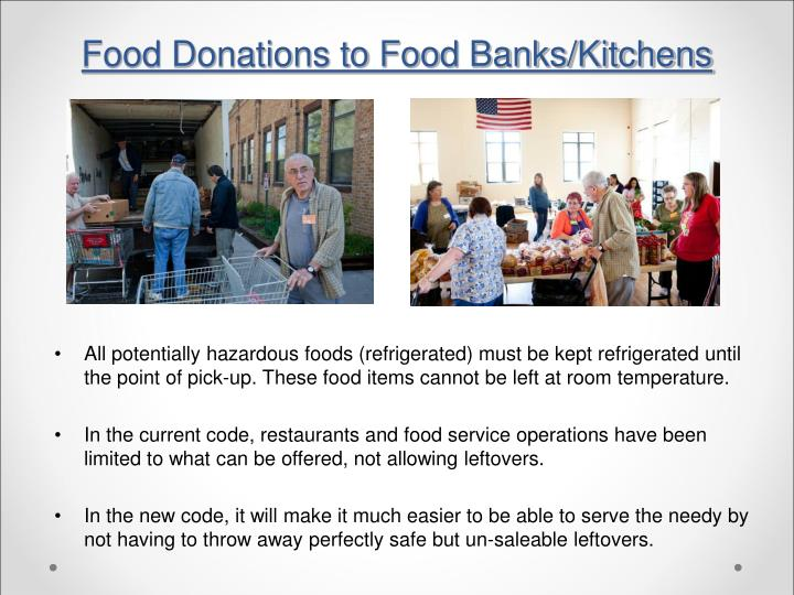 Food Donations to Food Banks/Kitchens