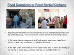 food donations to food banks kitchens