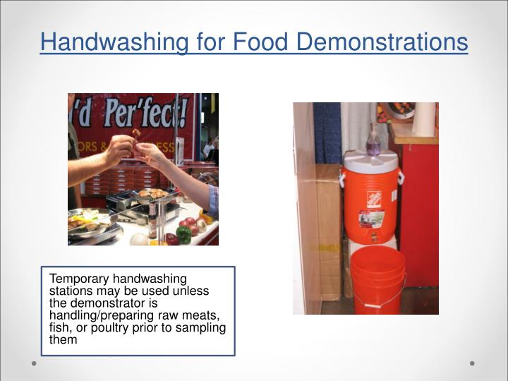 Handwashing for Food Demonstrations