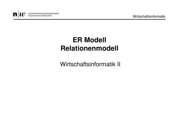 ER Modell