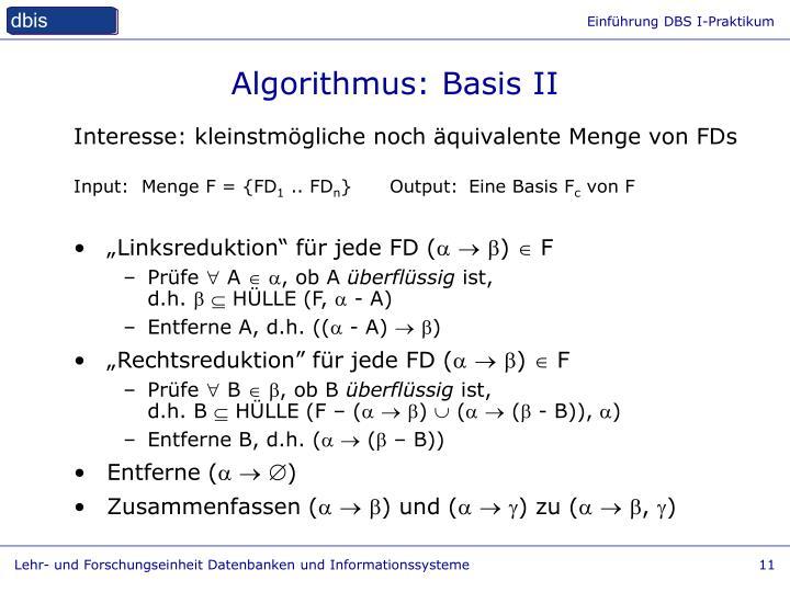 Algorithmus: Basis II