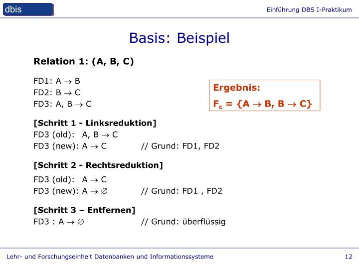 Basis: Beispiel