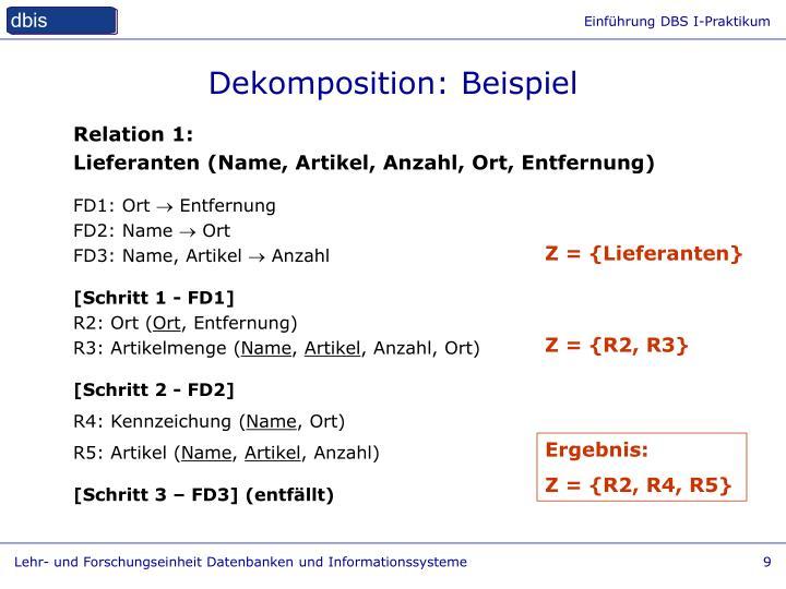 Dekomposition: Beispiel