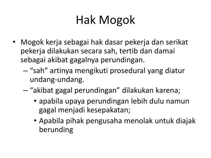 Hak Mogok