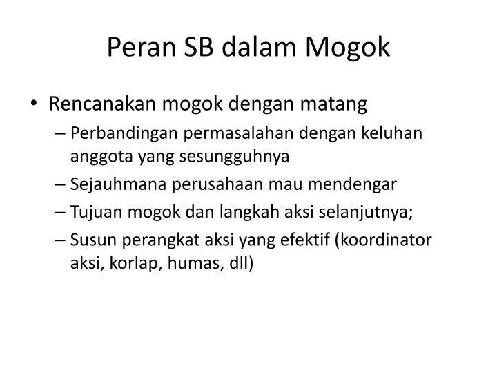 Peran SB dalam Mogok