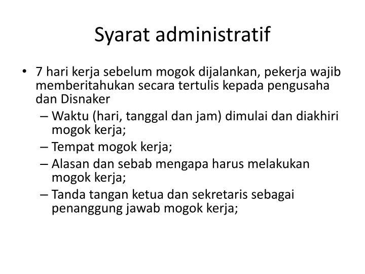 Syarat administratif