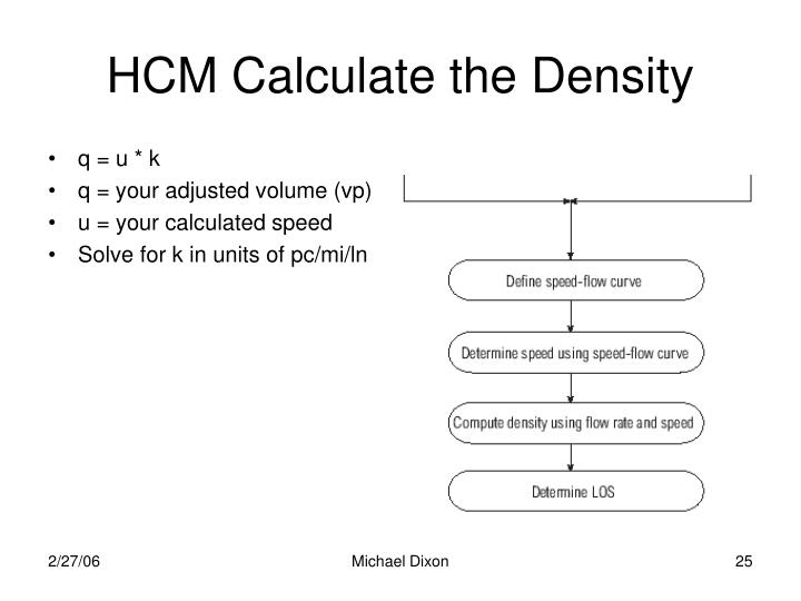 HCM Calculate the Density