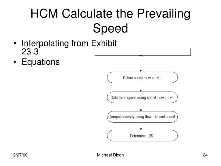 HCM Calculate the Prevailing Speed