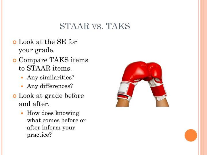 STAAR vs. TAKS