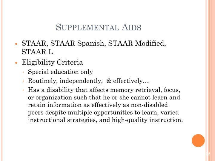 Supplemental Aids