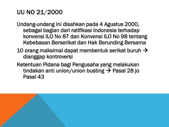 UU No 21/2000