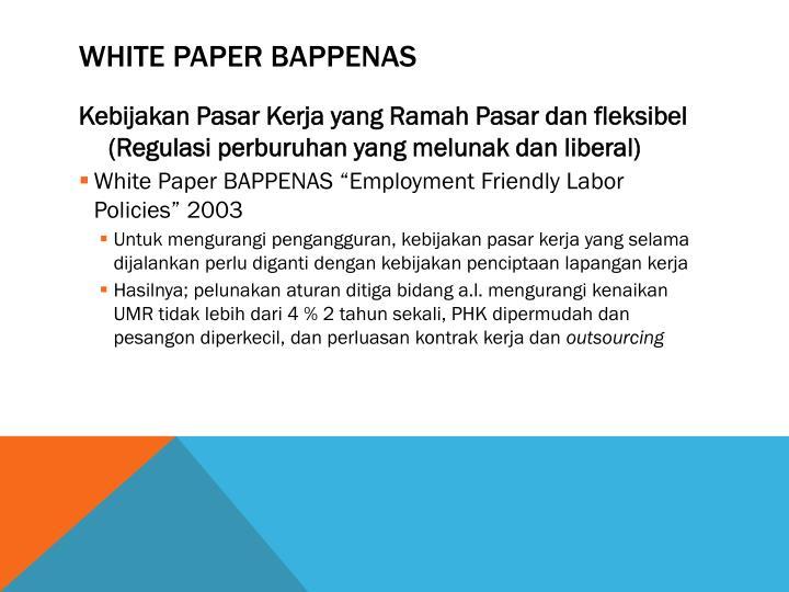 White Paper Bappenas
