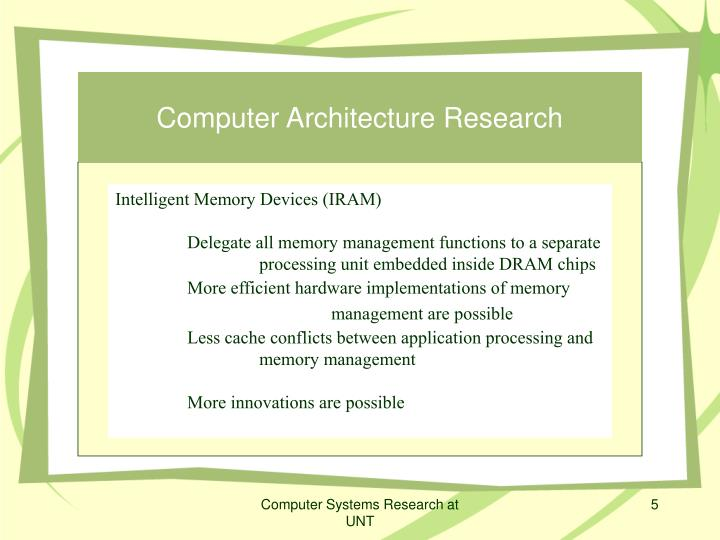 Computer Architecture Research