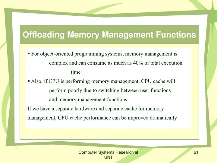 Offloading Memory Management Functions