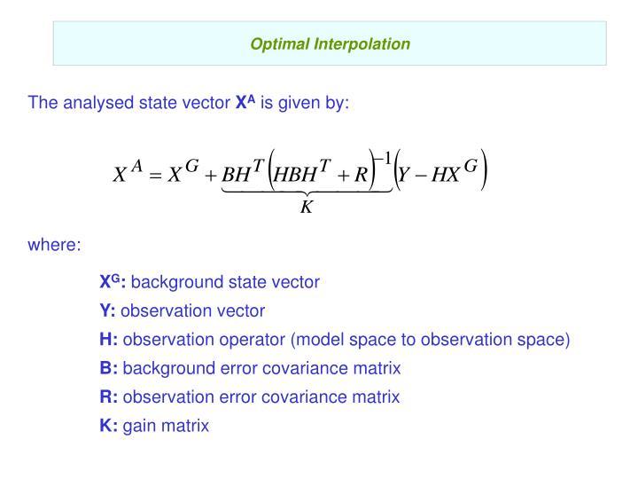 Optimal Interpolation