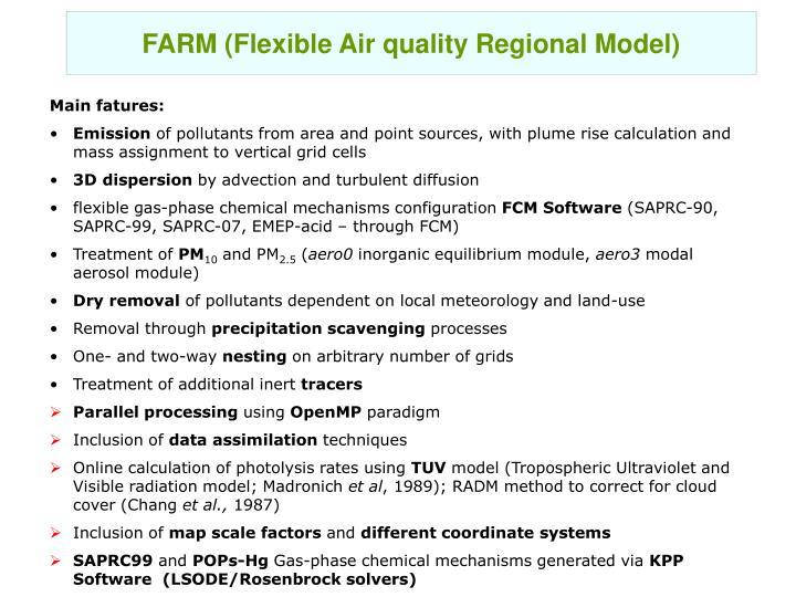 FARM (Flexible Air quality Regional Model)