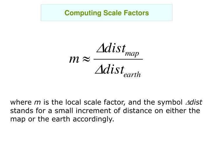Computing Scale Factors