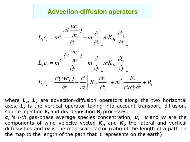 Advection-diffusion operators