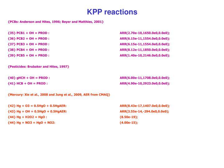 KPP reactions