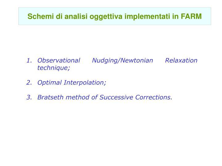 Schemi di analisi oggettiva implementati in FARM