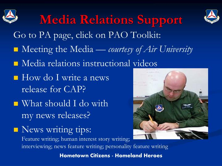Media Relations Support