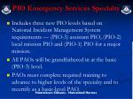 pio emergency services specialty