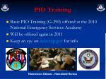 pio training