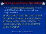 wing legislative day newsletters