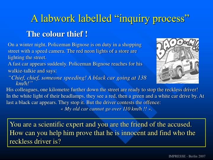 "A labwork labelled ""inquiry process"""