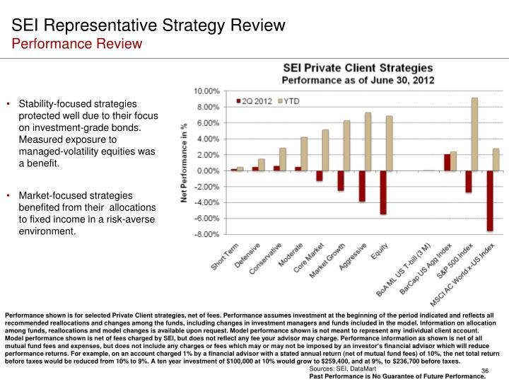 SEI Representative Strategy Review