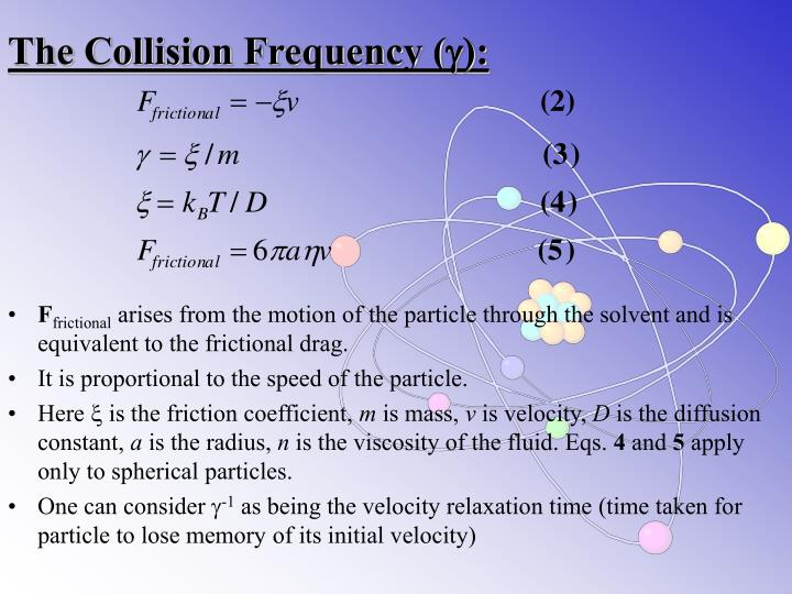 The Collision Frequency (
