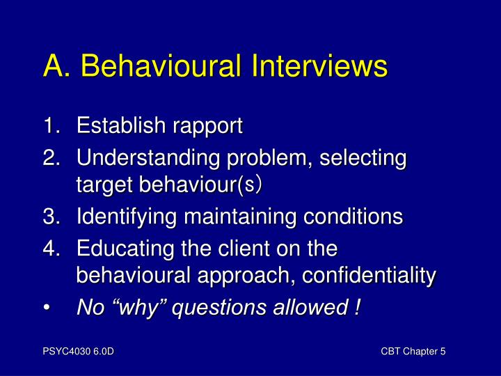 A. Behavioural Interviews