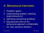 a behavioural interviews