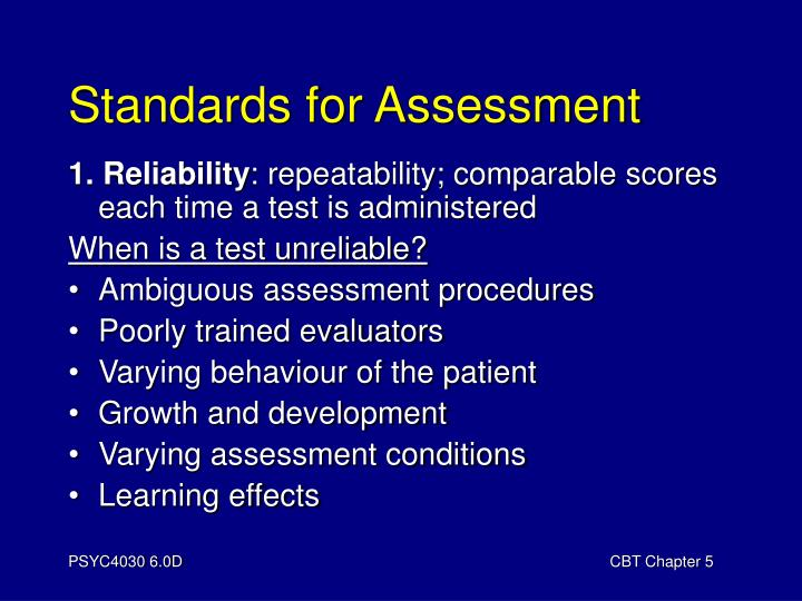 Standards for Assessment