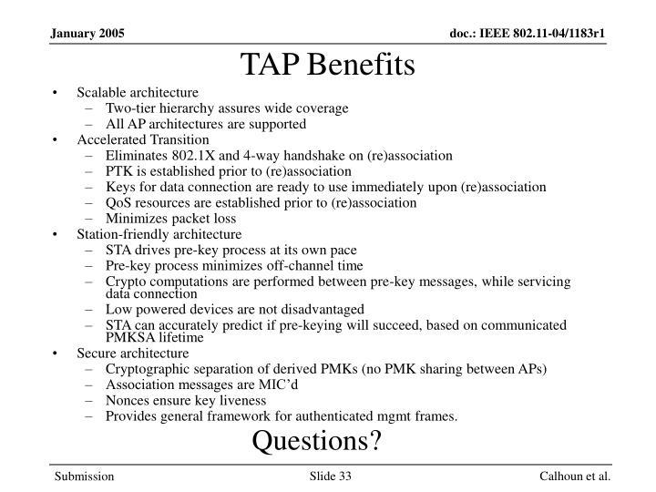 TAP Benefits