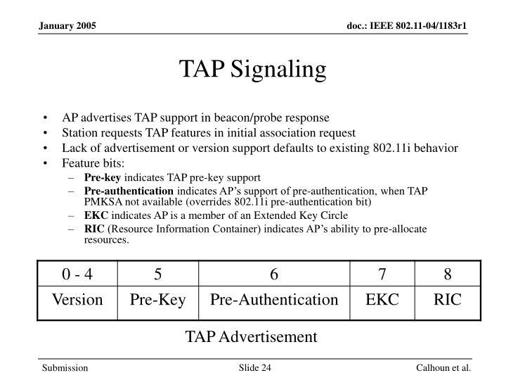 TAP Signaling