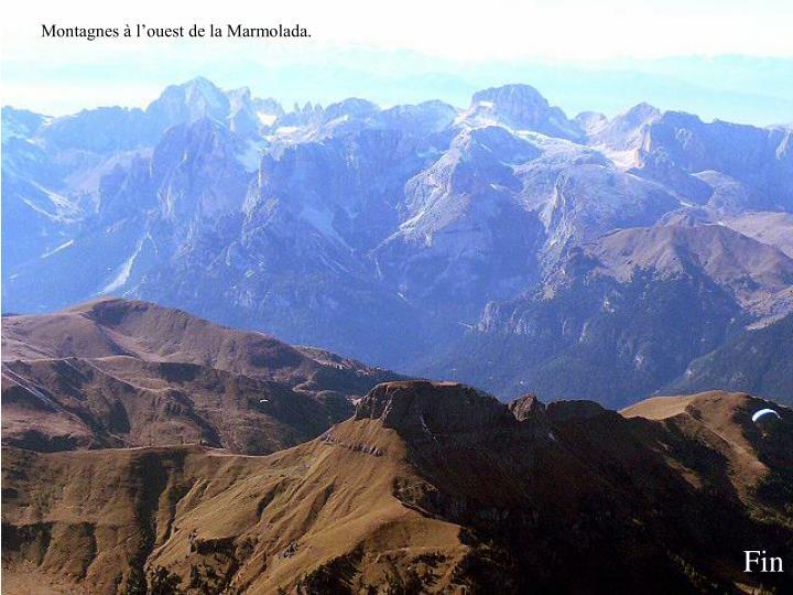 Montagnes à l'ouest de la Marmolada.