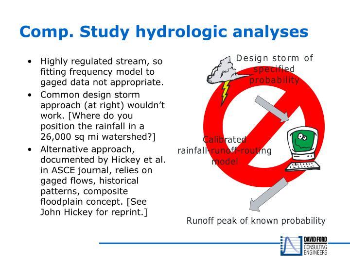 Comp. Study hydrologic analyses