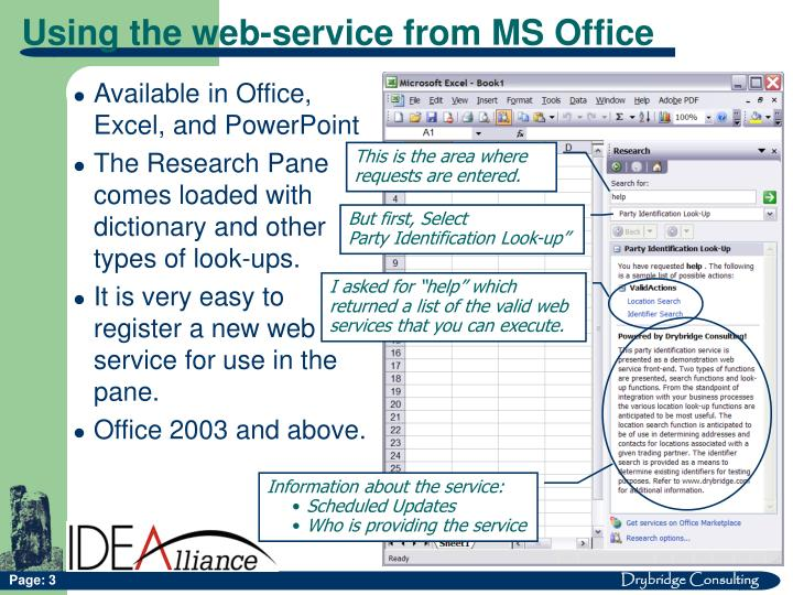Available in Office, Excel, and PowerPoint