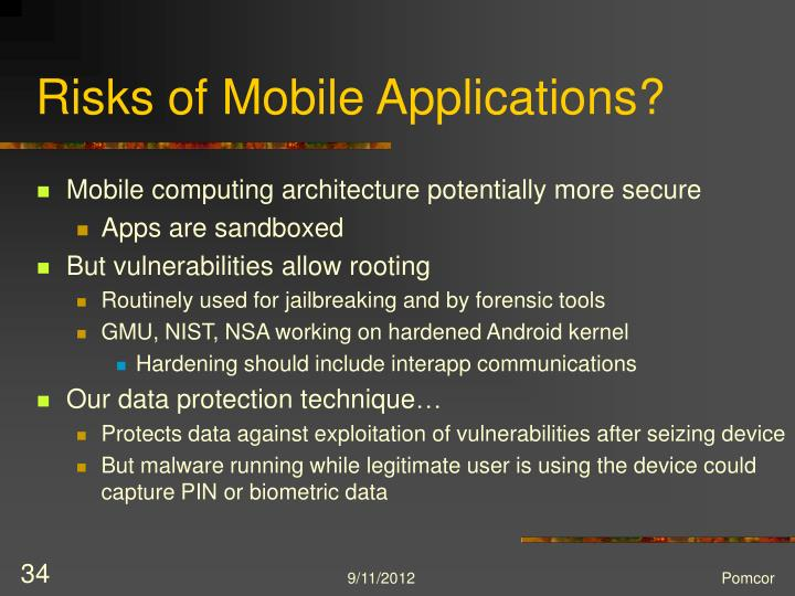 Risks of Mobile Applications?