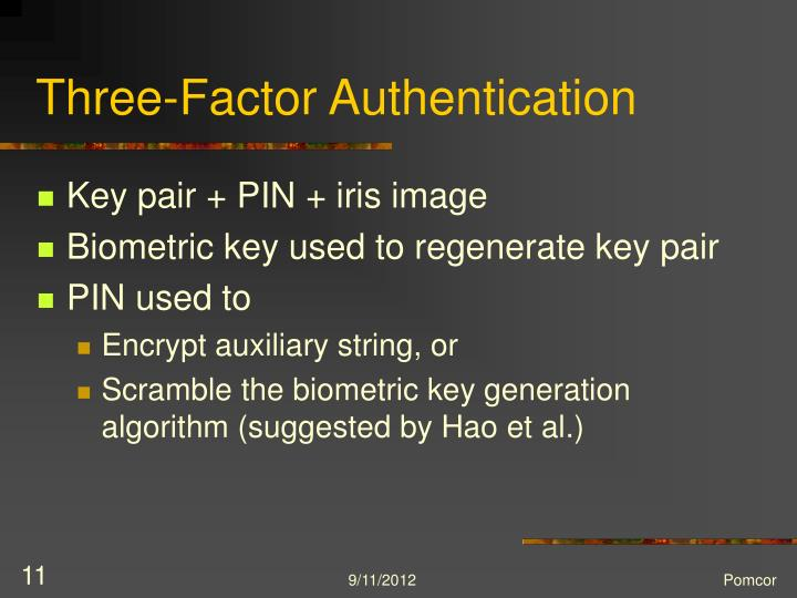 Three-Factor Authentication