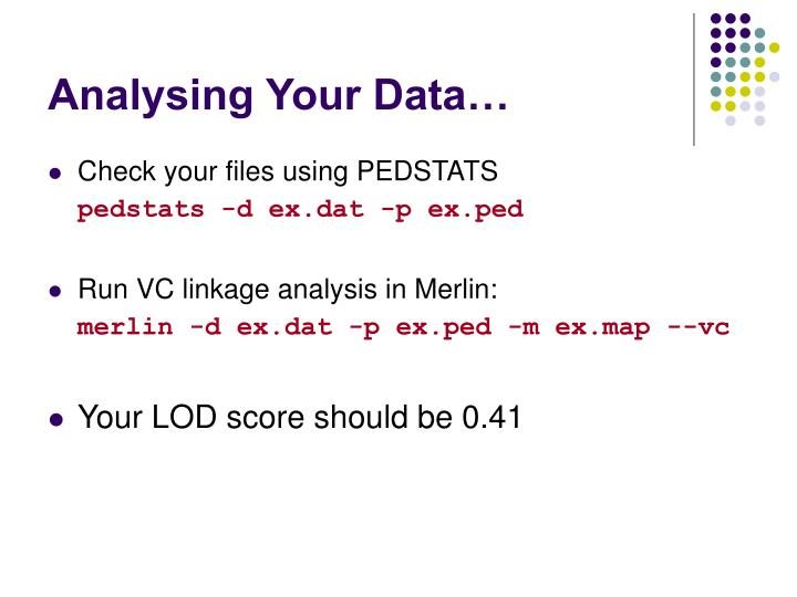 Analysing Your Data…